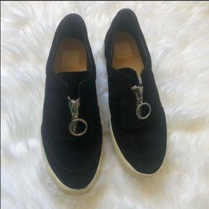 Dolce Vita Black Suede Slip on Sneakers